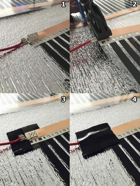 Folia grzewcza podczerwień szer.25 moc 60 W/m² Szerokość folii 25 cm