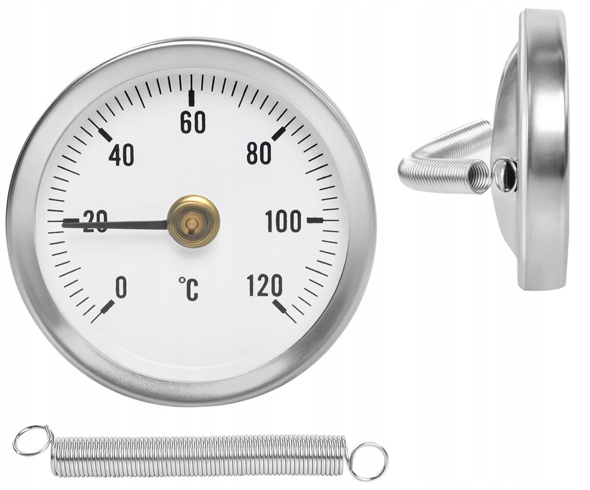 Termometr Tarczowy Okrągły Opaskowy Przylgowy 120C