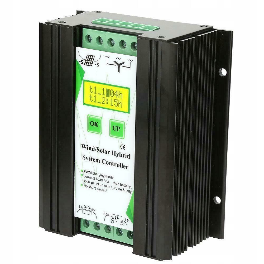 Kontroler regulator hybrydowy wiatr panele 12V 24V