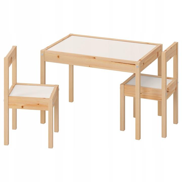 Детский стол Ikea latt + 2 детских стула