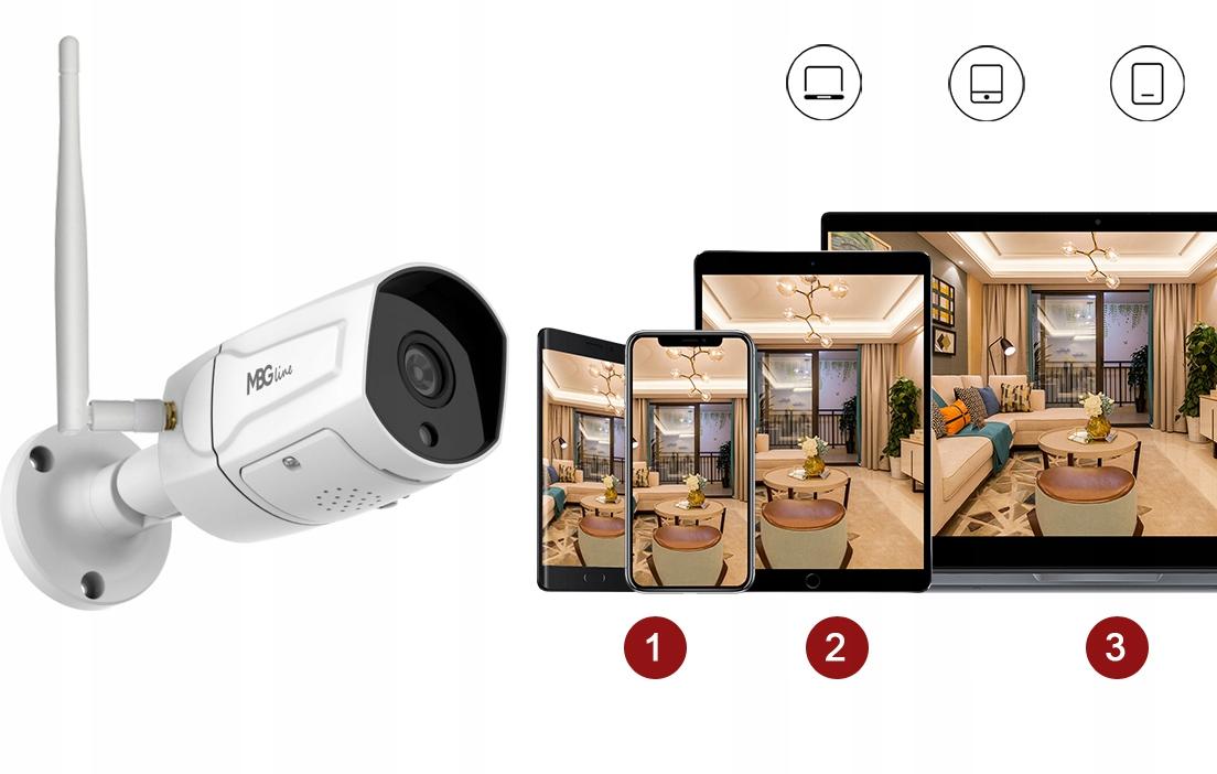 Zewnętrzna kamera IP H265 P2P Full HD METAL WIFI Klasa szczelności kamery IP65