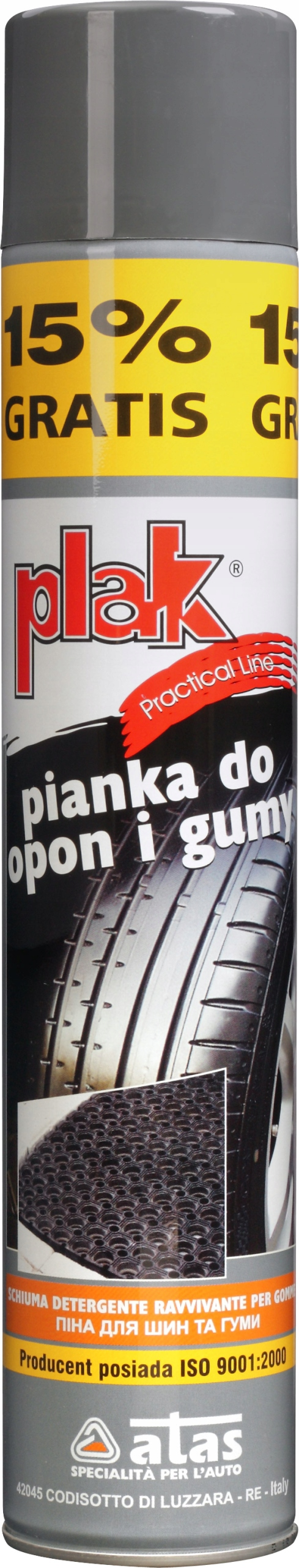 PLAK PRACTICAL Pianka do opon i gumy 500 ml spray