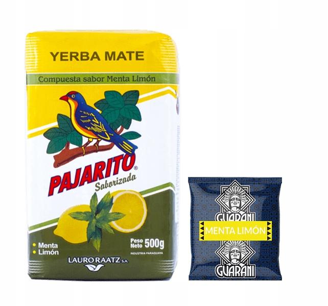 Йерба Мате Пахарито Гуарани МЕНТА ЛИМОН 500 г 0,5 кг