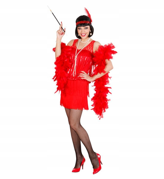ŠATY RETRO CHARLESTON RED BURLESE S
