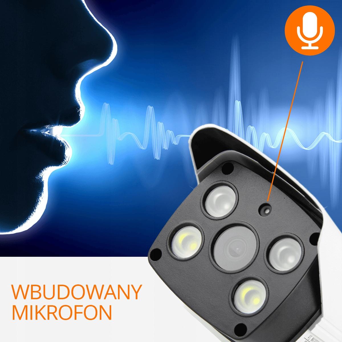 Kamera Zewnętrzna 2MP WiFi Syrena ORLLO GOODCAM Z4 Funkcje automatyczna regulacja wzmocnienia (AGC) kompensacja światła z tyłu (BLC) nagrywanie na kartę pamięci szeroki zakres dynamiki (WDR) głośnik mikrofon Wi-Fi