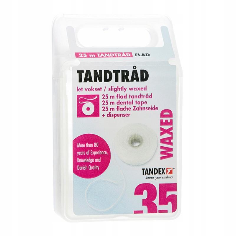 Tandex Zubná páska voskovaná páska 25m