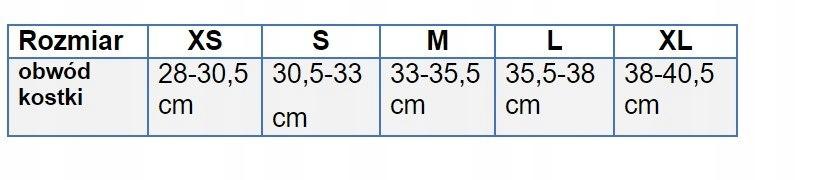 Orteza stawu skokowego stabilizator holenderska Waga produktu z opakowaniem jednostkowym 0.2 kg
