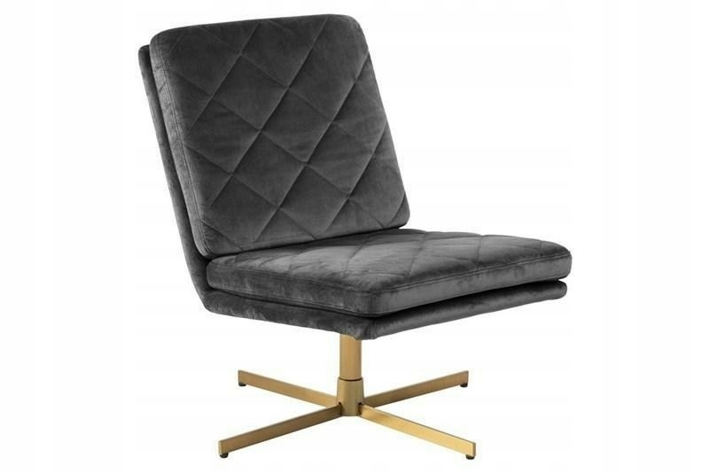 ACTONA stolička otočná CARRERA tmavo sivá - semiš