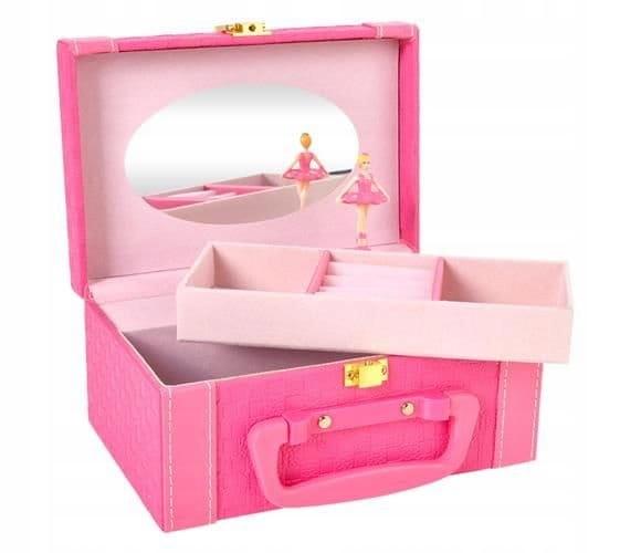Шкатулка с розовой музыкальной шкатулкой с балериной