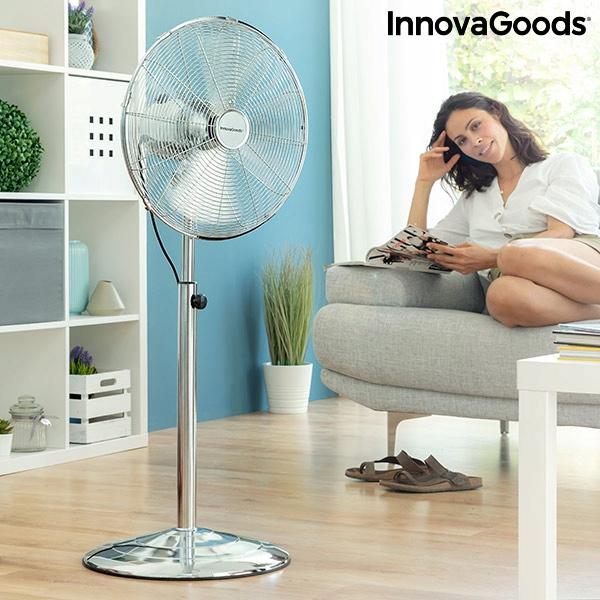 Stolový ventilátor InnovaGoods Chrome Retro Ø 40 c