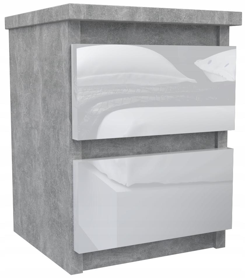 Прикроватный столик Concrete + White Gloss журнальный столик SHIPPING 24H