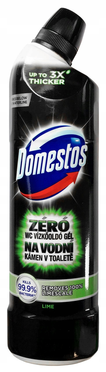 Domestos Zero Kamienia Lime Żel do WC 750ml