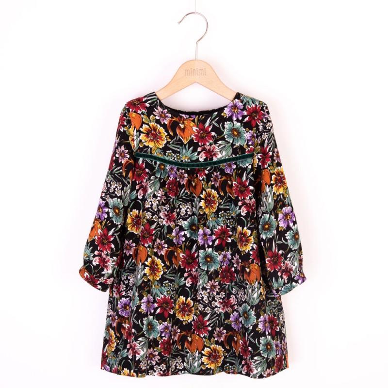 Minimi RETRO vintage retro kvetinové šaty 134
