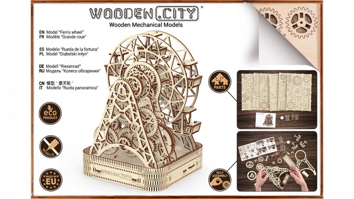 Ruské koleso WOODEN CITY 3D Puzzle