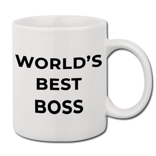 Kubek Biały Prezent Office WORLD's BEST BOSS 01