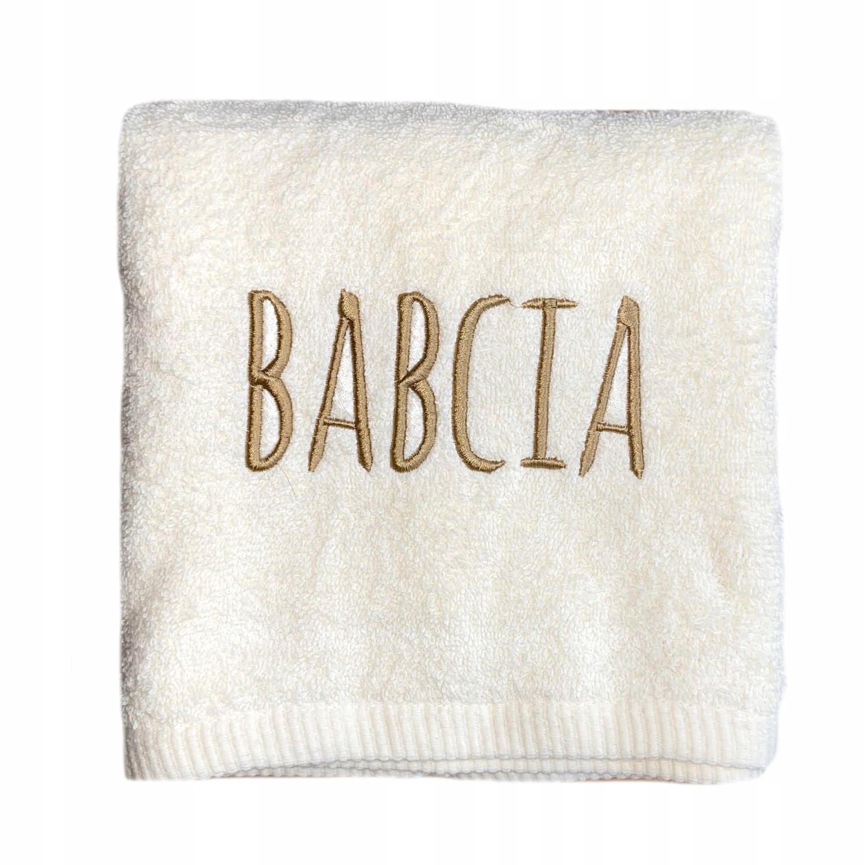 Ręcznik super prezent DLA BABCI DZIADKA 500g+ haft