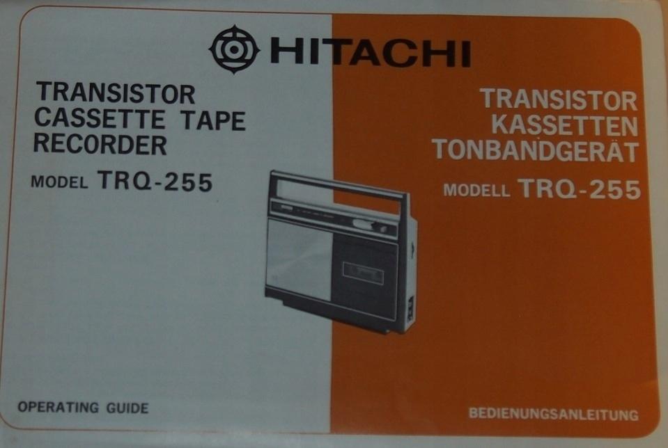 HITACHI TRQ-255. INSTRUKCJA OBSŁUGI.