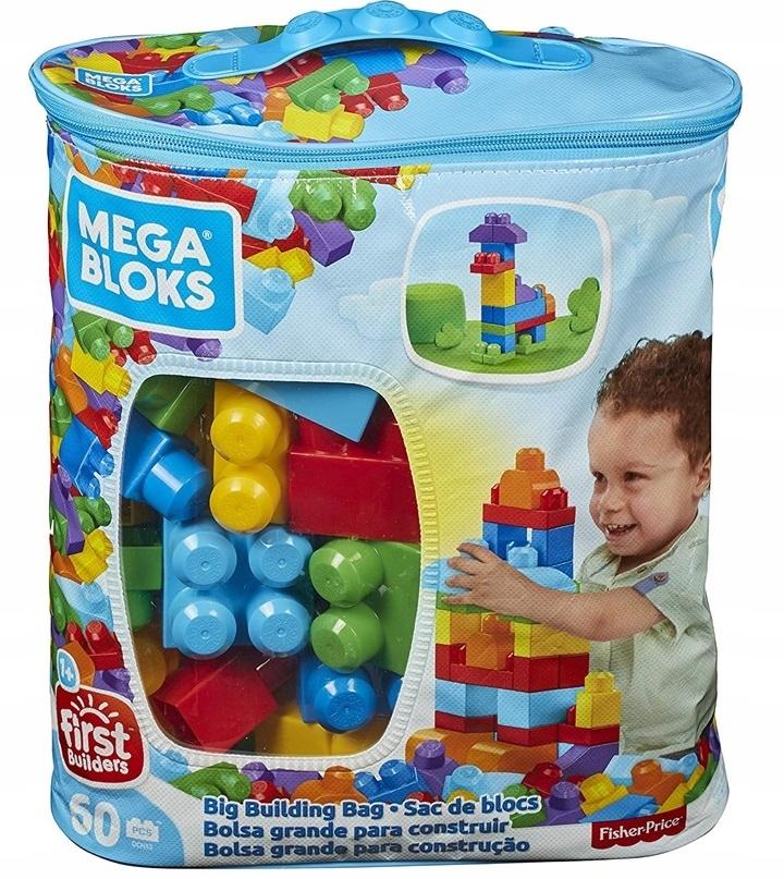 Mega Bloks DCH55 Tyrkysová taška + bloky 60 el