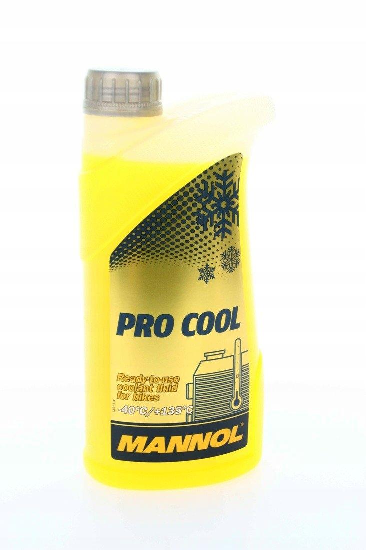 Жидкость mannol для охладителей мотоциклов PRO COOL 1л