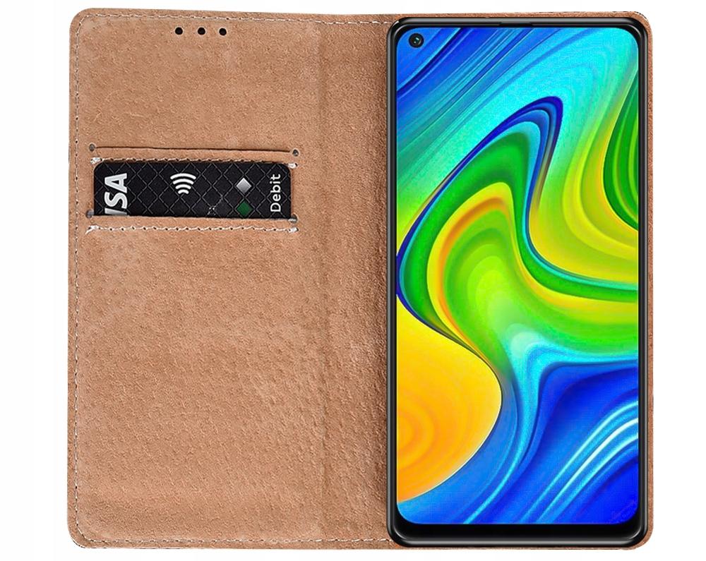 Etui do Xiaomi Redmi Note 9 Skórzane Case + Szkło Dedykowany model Xiaomi Redmi Note 9