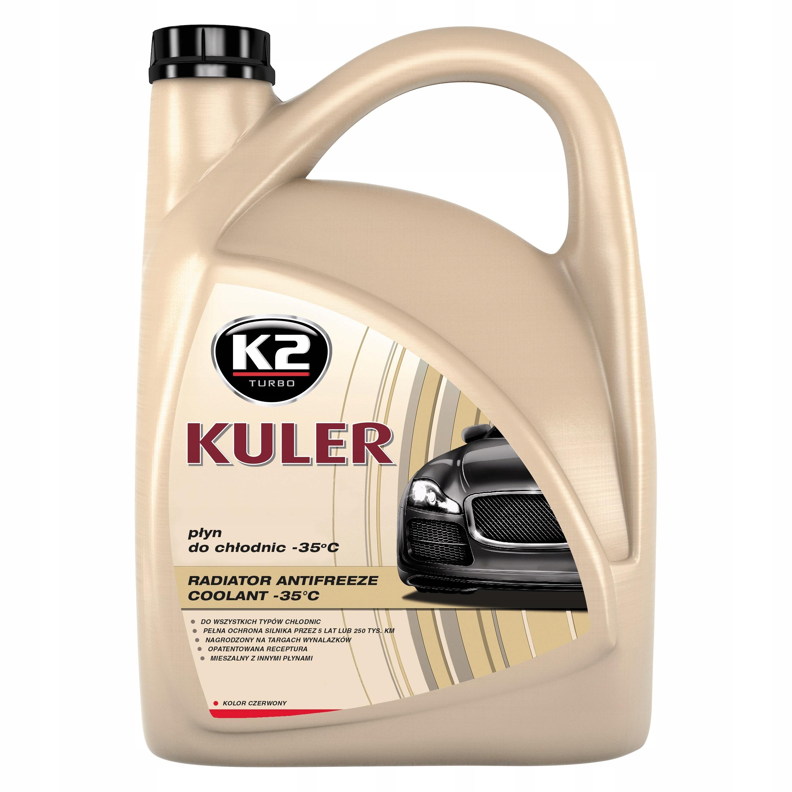 K2 Kuler Жидкость для радиаторов -35°C G12 Красный 5Л