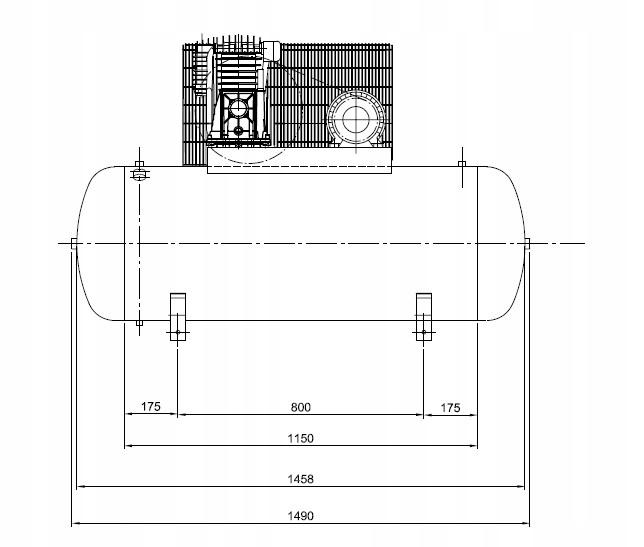 SPRĘŻARKA KOMPRESOR 300L ATLAS COPCO AC 40 E 300 T Zasilanie elektryczne sieciowe