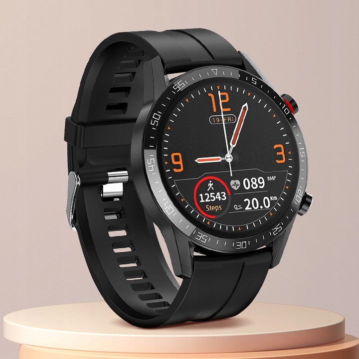 SMARTWATCH Zegarek EKG Krokomierz Puls Bluetooth Kolor dominujący czarny