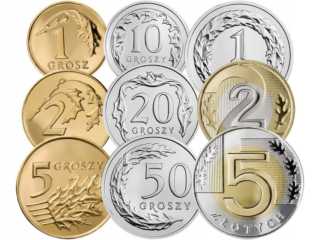 Komplet monet obiegowych 2010 r. UNC 9 sztuk