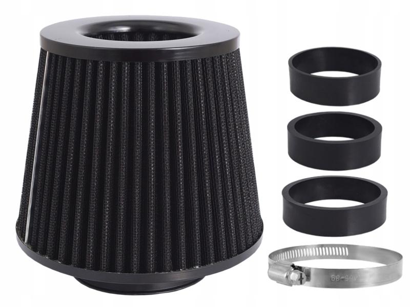 спортивный фильтр воздуха конус хром + 3 адаптеры