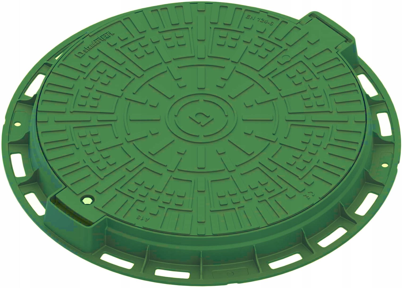 Круглый люк закрывает септик 60 / 80см.