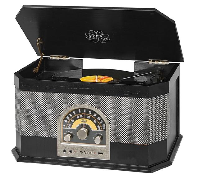 Trevi TT 1040 BT čierny gramofón RETRO MP3