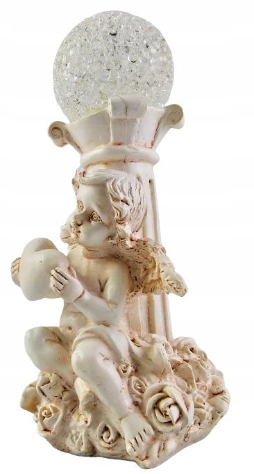 Figurka Anioł ANIOŁEK Led z kulą dekoracyjna 15cm Wysokość 15 cm