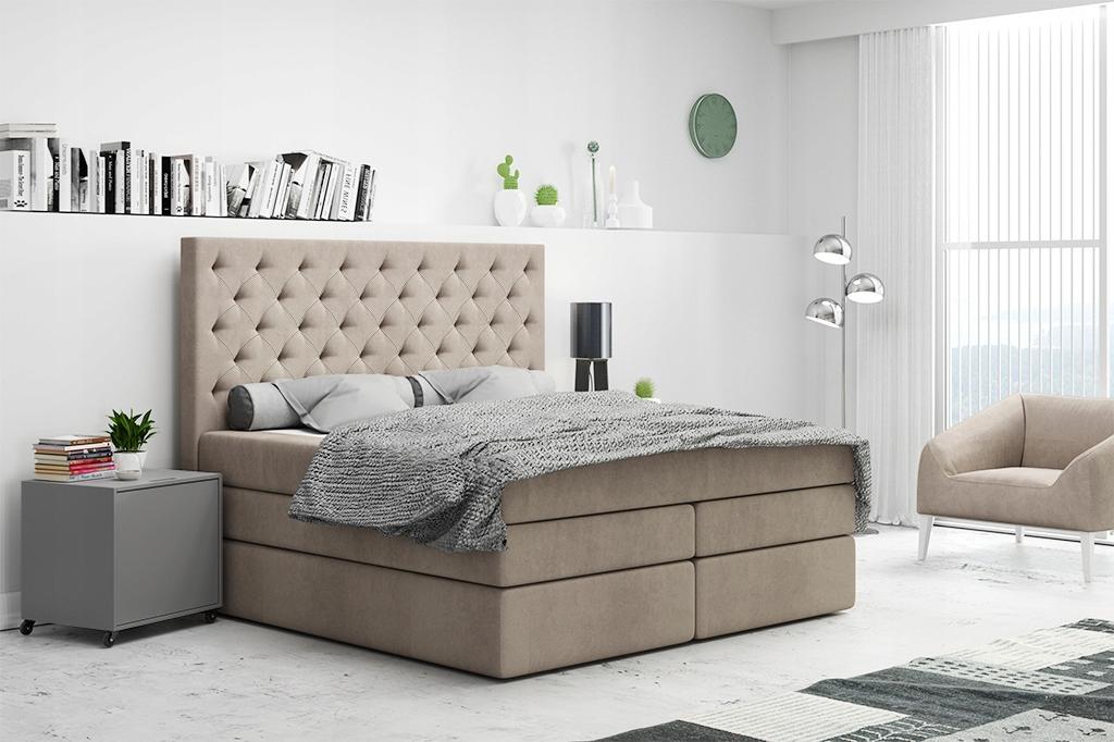 Кровать континентальная высокий гламур 180x200