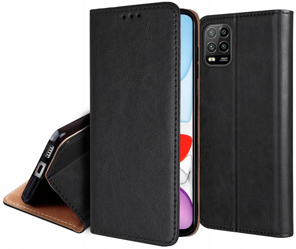ETUI SKÓRZANE + SZKŁO 9H do Xiaomi Mi 10 Lite 5G