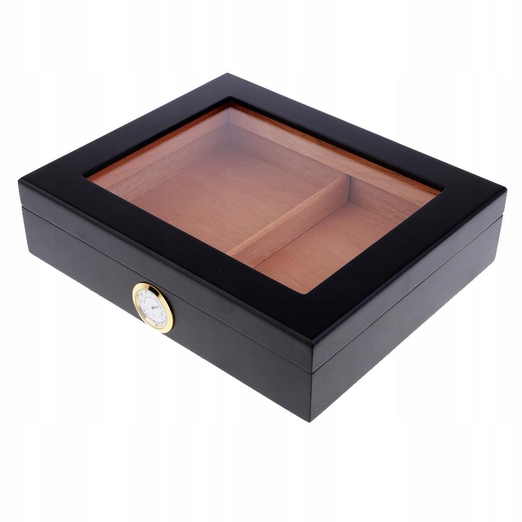 Испанский cedrowy контейнер для сигар - черный