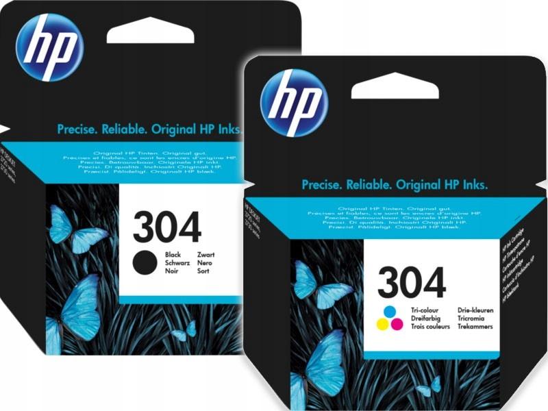 Zestaw tusz HP 304 czarny + kolor N9K06AE N9K05AE