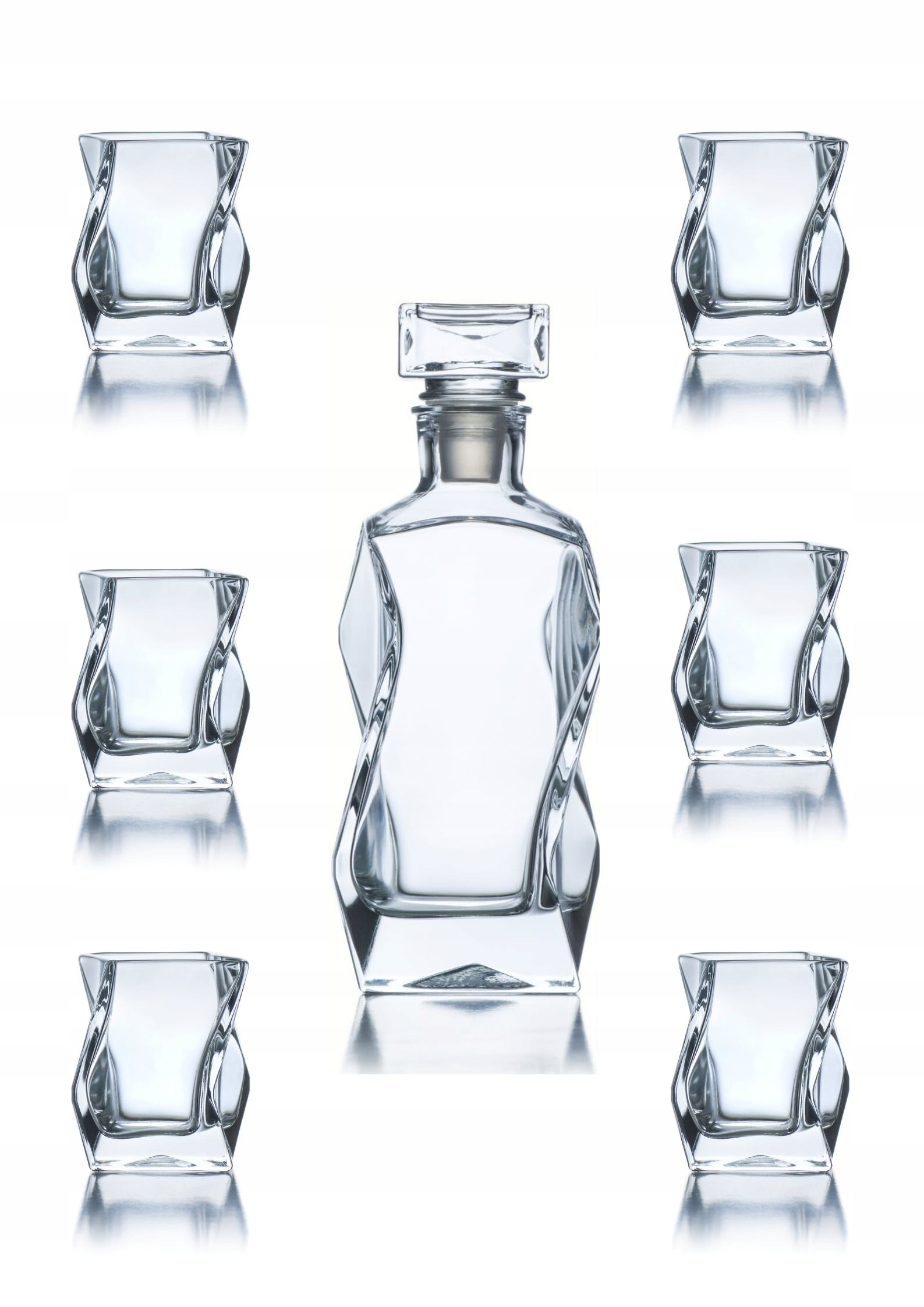 Zestaw whisky karafka grawer i 6 szklanek PREZENT