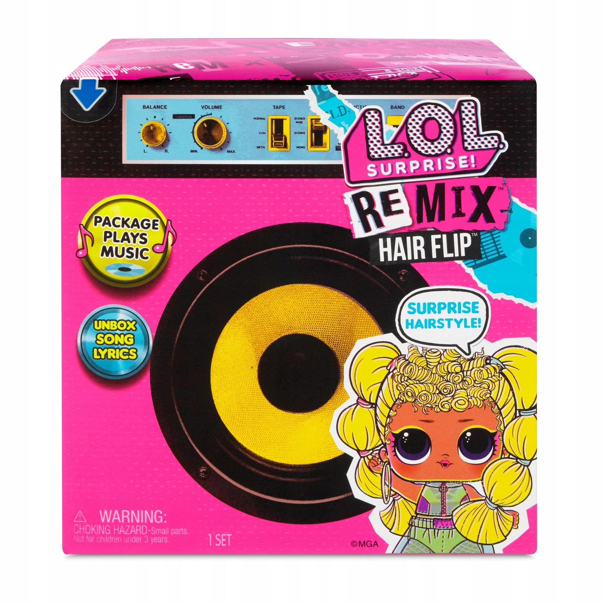 PREKVAPENIE - bábika LOL REMIX Hair Flip s hudbou