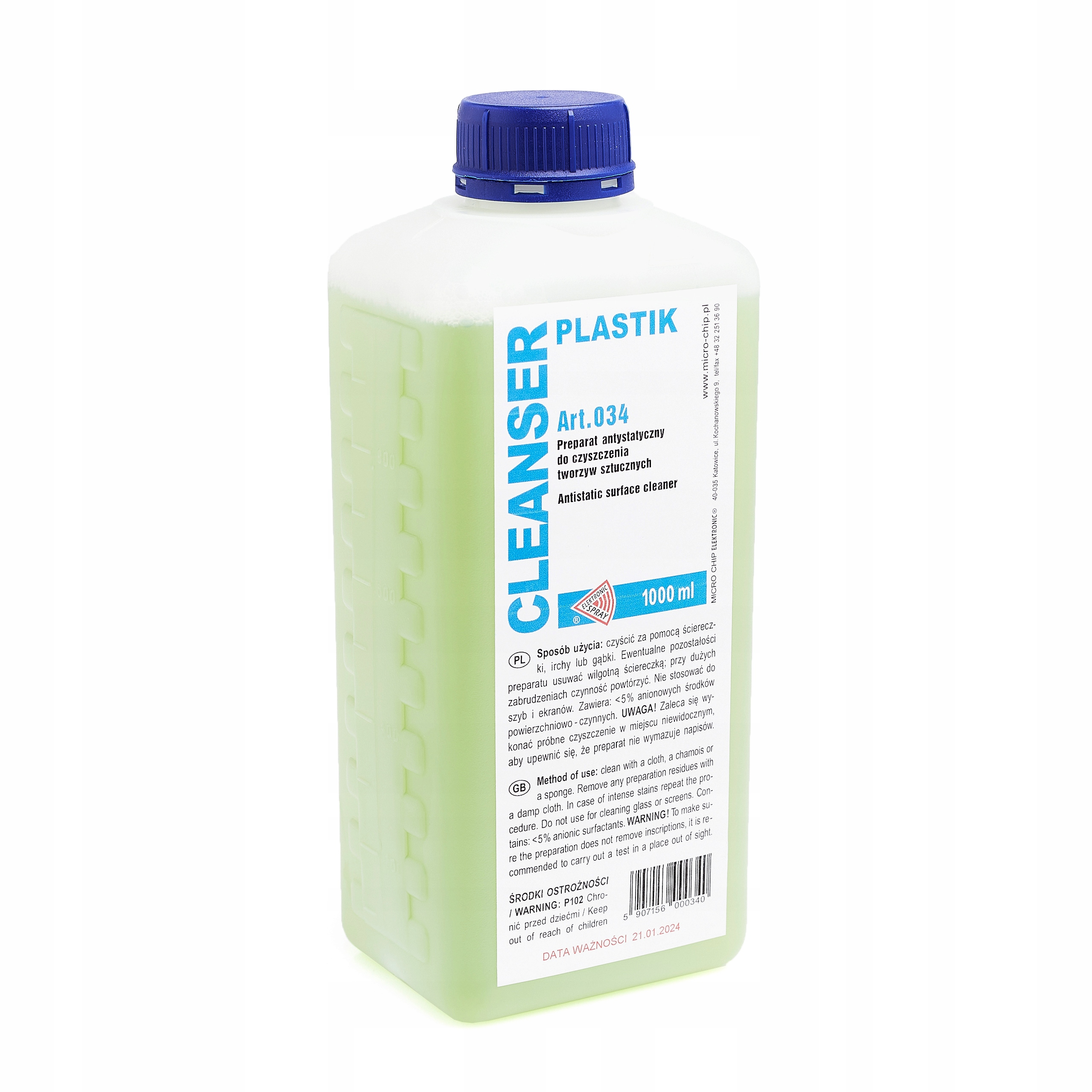 CLEANSER PLASTIK 1L PVC CLEANING LIQUID RTV