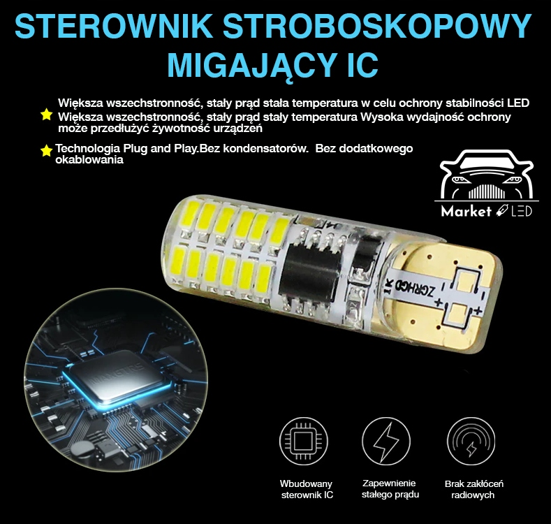 Żarówki Ledowe W5W Led Silikon - Mocne! Rodzaj LED