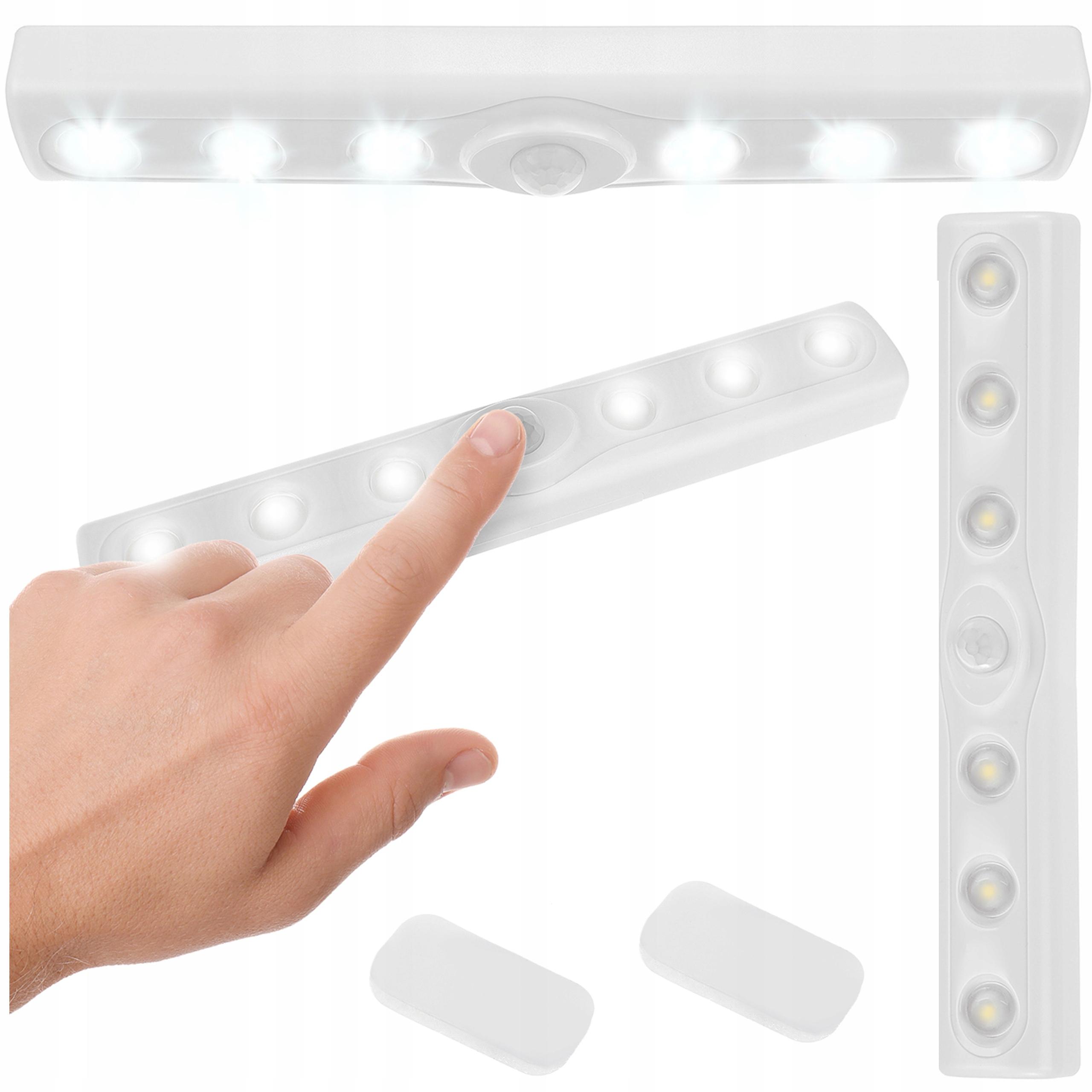 6 светодиодный светильник на липучке под шкафом для датчика гардероба