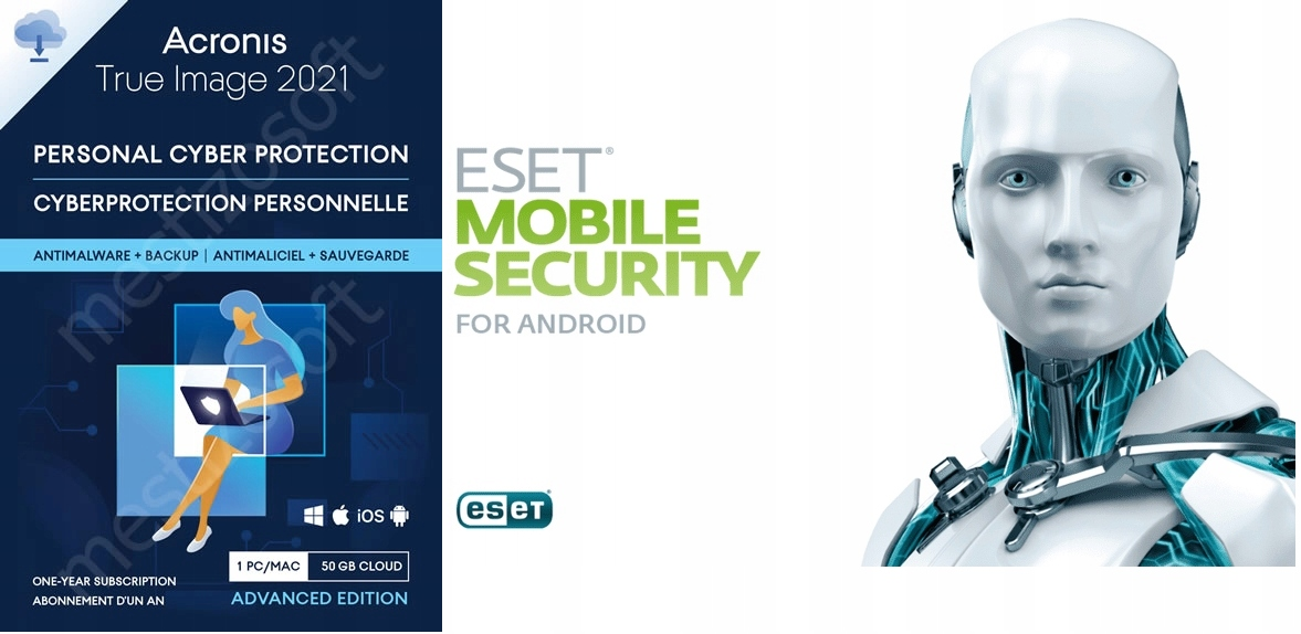 Acronis True Image 2021 + ESET Mobile Security 12M