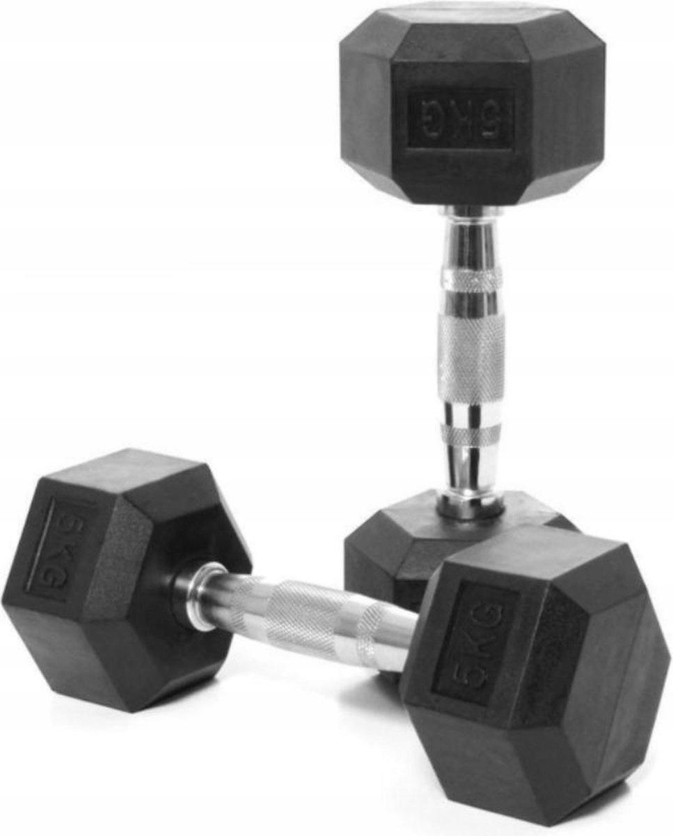 HANTLE DUMBBELL CIĘŻARKI 2 x 5 kg POWLEKANE GUMĄ 10142450570 - Allegro.pl