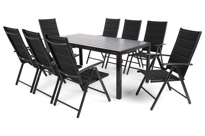 Комплект алюминиевой садовой мебели на 8 человек