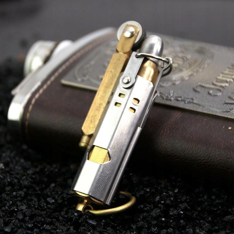 Na Cigaretový Zapaľovač - Zásobník - Retro Srebr