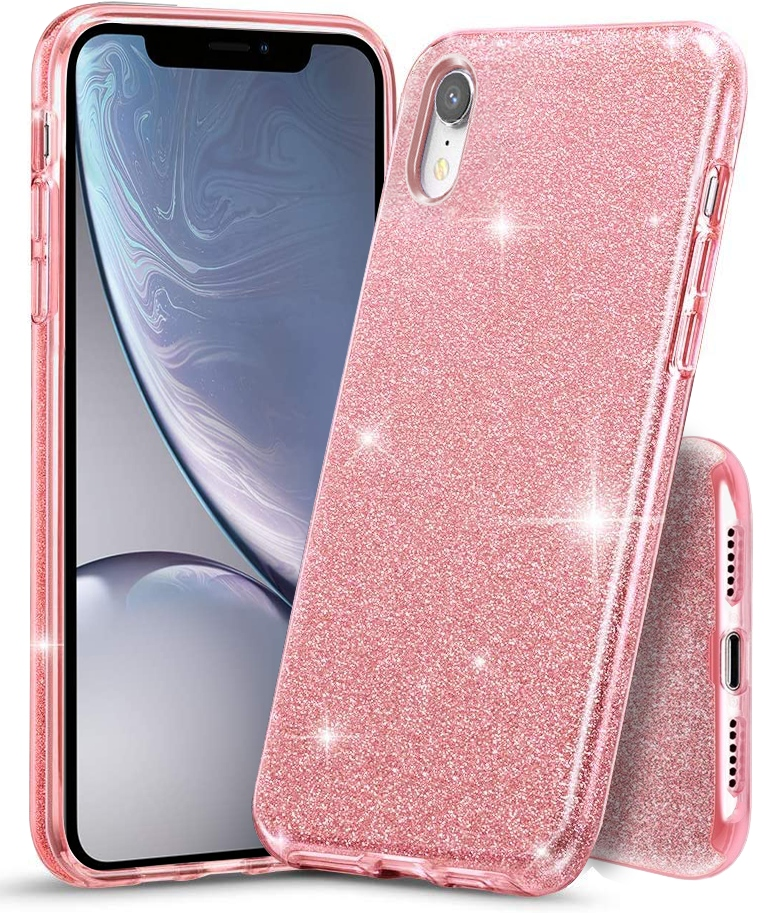 Etui Case Brokat + Szkło 9H do iPhone XR