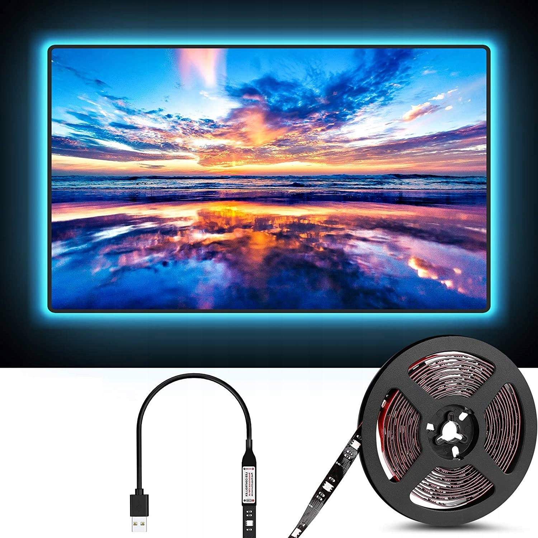 LED TAPE 5050 RGB TV USB BLUETOOTH APP Lysfargen er flerfarget