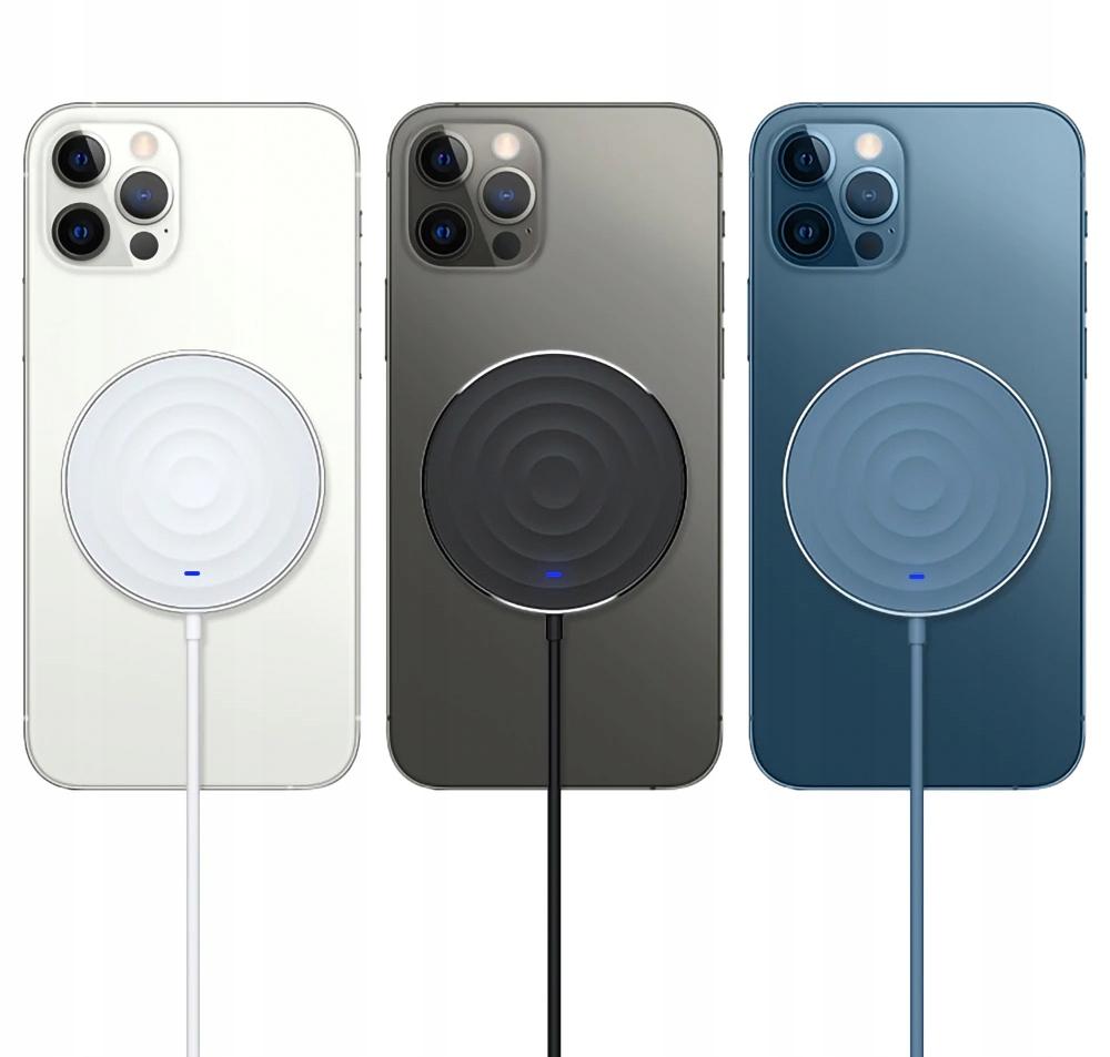Ładowarka bezprzewodowa 15W iPhone 12 PRO MAGSAFE Kolor biały