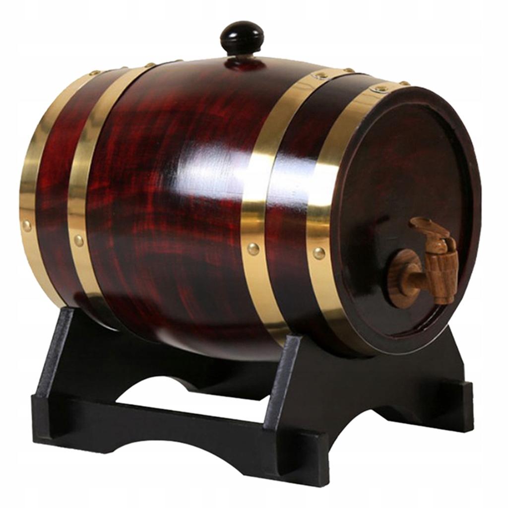1ks dubový vínny sud - 3L retro červené víno