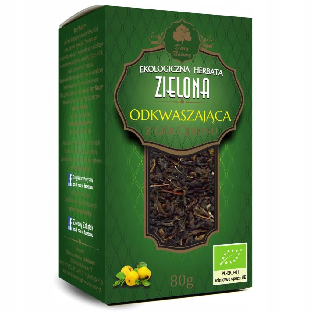 Обезвоживание зеленого чая 80 г ECO Dary Natury